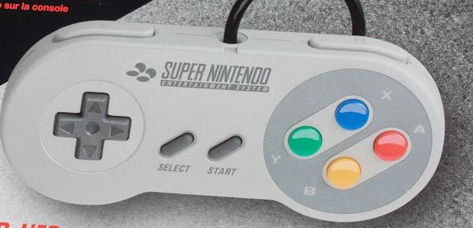 La manette Super Nintendo pour Wii