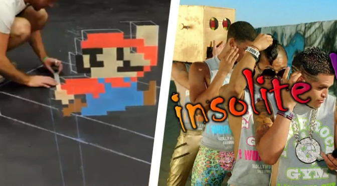 La Minute Insolite / Super Mario en 3D à la craie