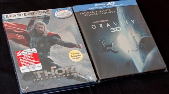 [Arrivage] Thor 2 et Gravity en Blu-ray Steelbook