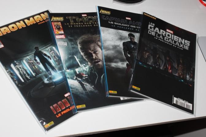 Achats des comics Marvel, les prologues des films