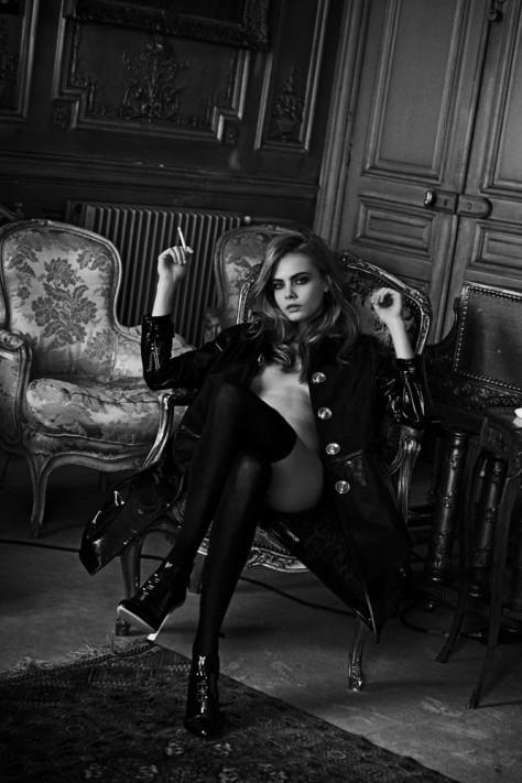 Cara Delevingne par Peter Lindbergh pour Interview Magazine (2)