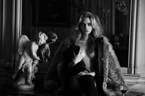 Cara Delevingne par Peter Lindbergh pour Interview Magazine (7)